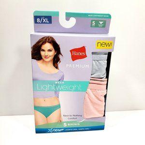 Hanes 5pk Lightweight Mesh Bikini Underwear